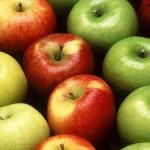 manzanas verdes-rojas