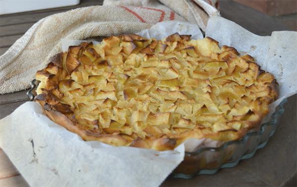tarta-flan-manzana